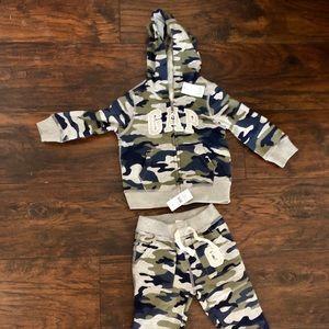 Gap Sweat Suit Jacket Pants 18-24M Toddler Boys